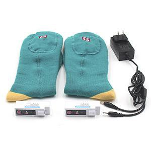 Blue Electric Heated Socks