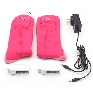 Pink Electric Heated Socks