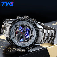 Digital Watch Sport Men's Analog LED - TVG Steel Luxury band Fashion Waterproof - ArtOfExpo