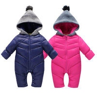 Baby Clothes -Thick Warm Rompers Coverall Hooded Jumpsuit - ArtOfExpo