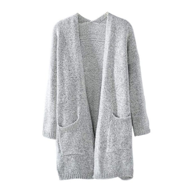 Women Sweater - Women Long Sleeve loose knitting cardigan - ArtOfExpo