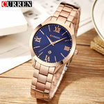 Women's Watches - Curren Luxury Full Steel Quartz Fashion Casual - ArtOfExpo