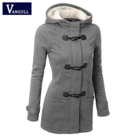 Women Causal Coat - Overcoat Female Hooded Coat Zipper - ArtOfExpo
