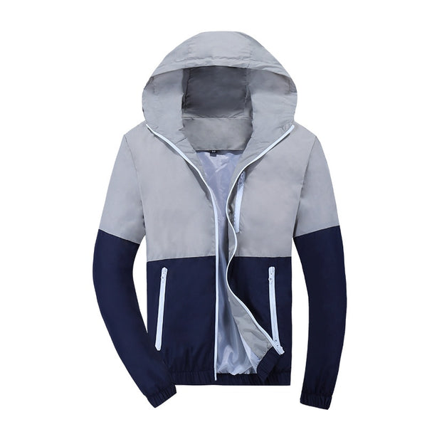 Men's Jackets - Windbreaker Hooded Casual Coat Thin Men - ArtOfExpo