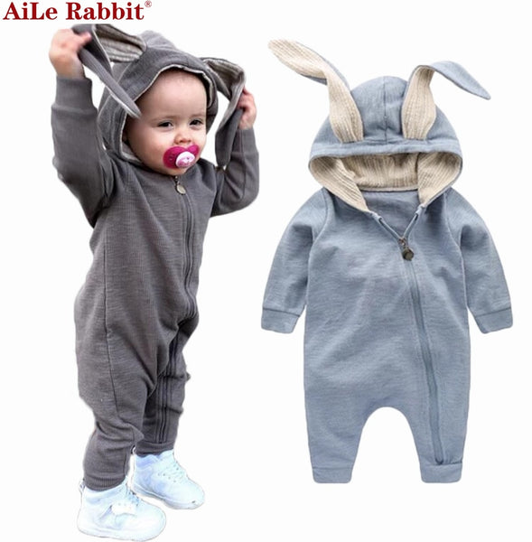Baby Clothes -Baby Rompers Cute Rabbit Jumpers Kids Baby Clothes - ArtOfExpo