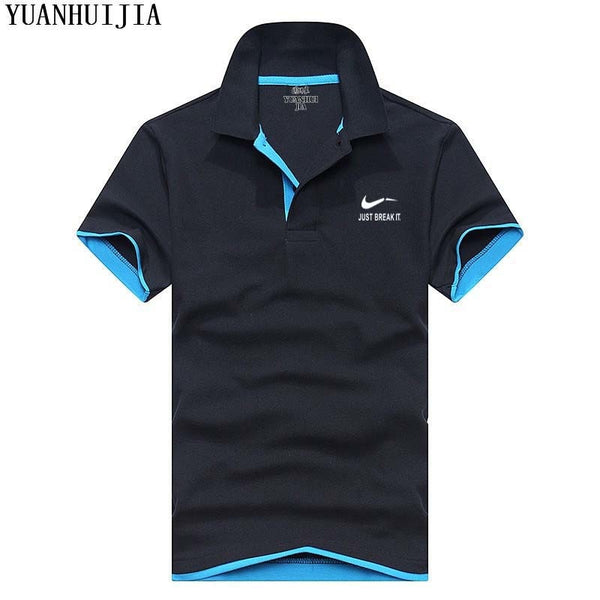 Men's Polos Shirt - New 2018 short sleeve shirt breathable solid - ArtOfExpo