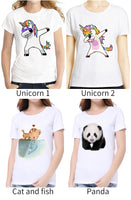 Women  T-shirt - Naughty Cat 3D Lovely  O-Neck - ArtOfExpo