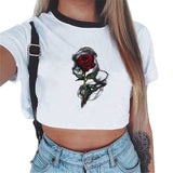 Female Cropped - Crop Top Clothes Clubwear Cute - ArtOfExpo