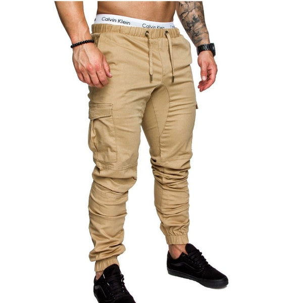 Man's Trousers - Hip Hop Harem Joggers Pants Joggers Solid Multi-pocket Pants - ArtOfExpo