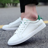 Men's shoes - Breathable Casual White Leisure Flats Lace-up Hombre - ArtOfExpo