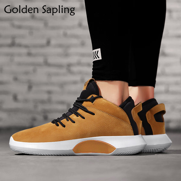 Men's shoes - Golden Sapling Running Shoes Waterproof Leather Sneakers - ArtOfExpo