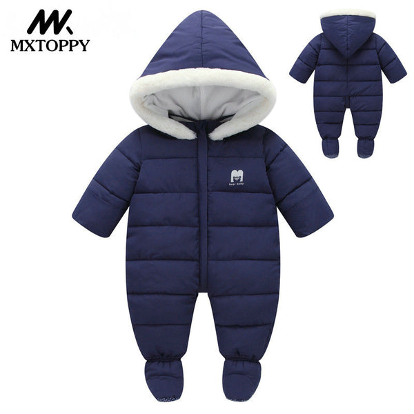 Baby Clothes - Hooded Rompers Thick Cotton Outfit Jumpsuit Baby Costume - ArtOfExpo