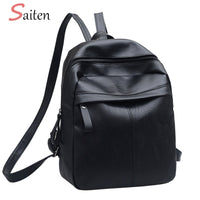 Women Backpack - High Quality PU Leather  Fashion Solid School Bags - ArtOfExpo