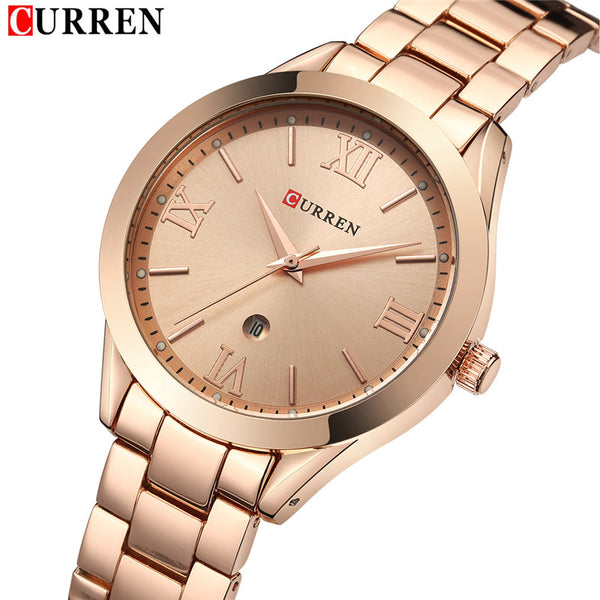 Woman's Watches - Luxury Quartz Curren Steel - ArtOfExpo