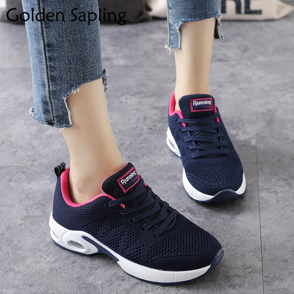 Women's shoes - Golden Breathable Sneakers Fitness Air Mesh Sport - ArtOfExpo