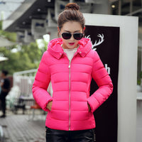 Women's Jackets - Hooded Cotton Padded Women Short Outwear - ArtOfExpo