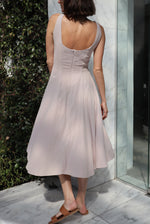 Load image into Gallery viewer, Audrey Midi Dress - Rose Dust