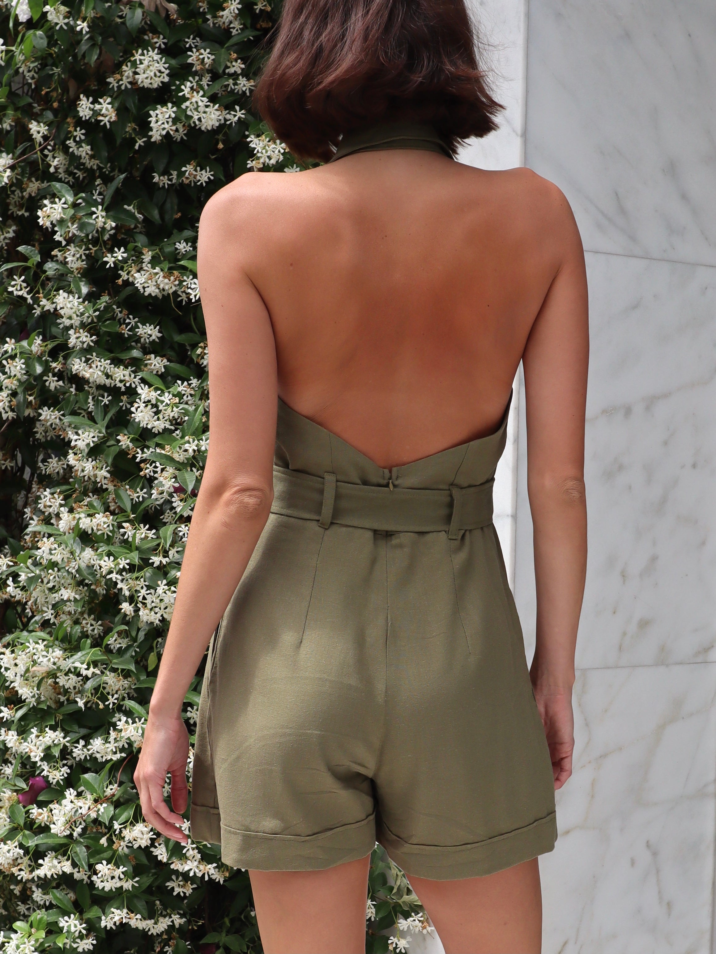 Gaia Playsuit - Olive