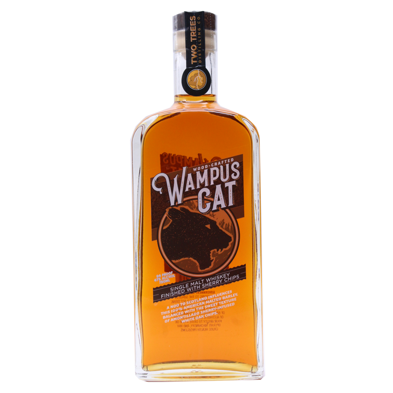 Two Trees Wampus Cat Single Malt Whiskey 750mL