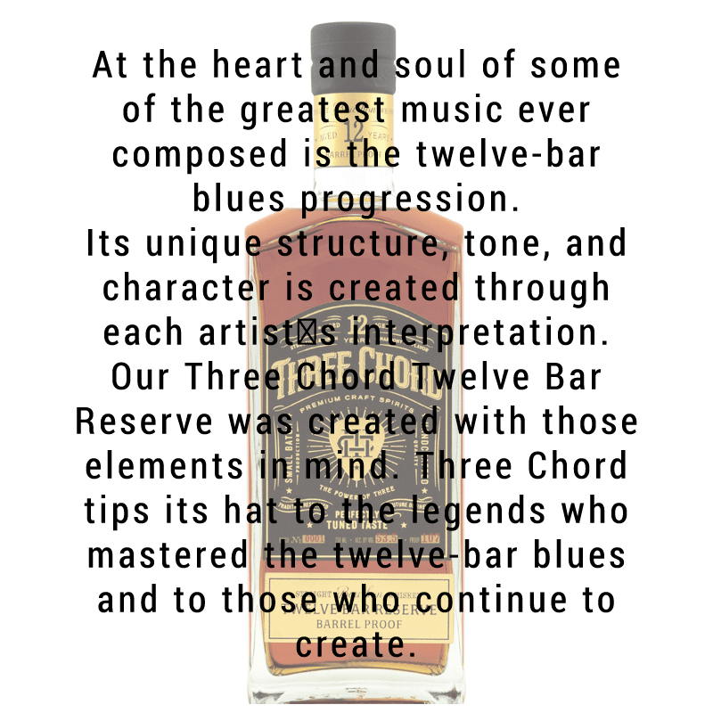 Three Chord 12 Bar Reserve Barrel Proof Bourbon Whiskey 750mL
