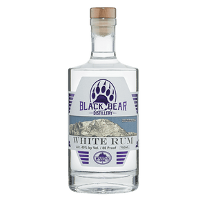 Black Bear Distillery White Rum 750mL buy online great american craft spirits