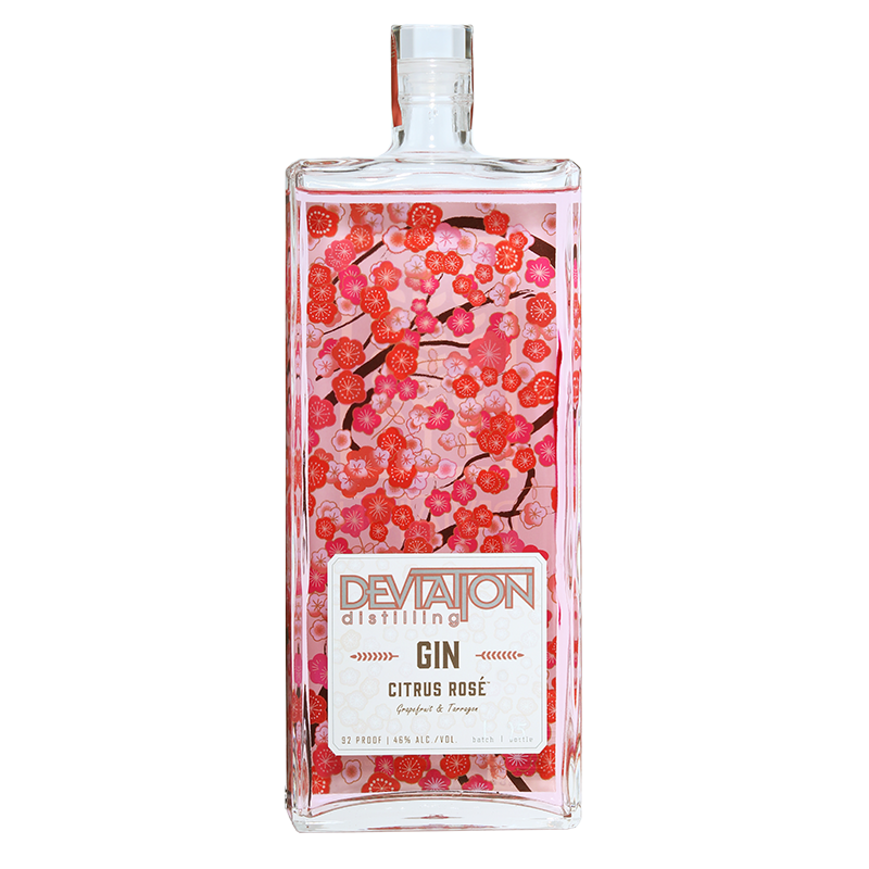 Deviation Distilling Citrus Rosé Gin 750mL