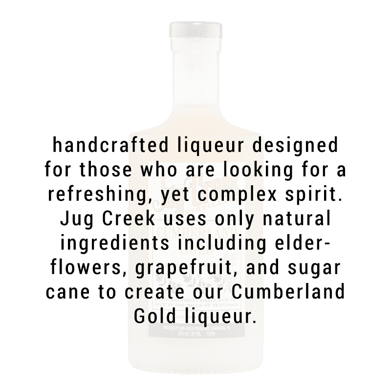Jug Creek Cumberland Gold  Elderflower & Grapefruit Liqueur 750ml