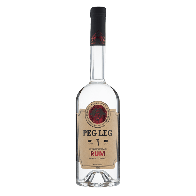 Mile High Spirits Peg Leg Rum 750mL buy online great american craft spirits