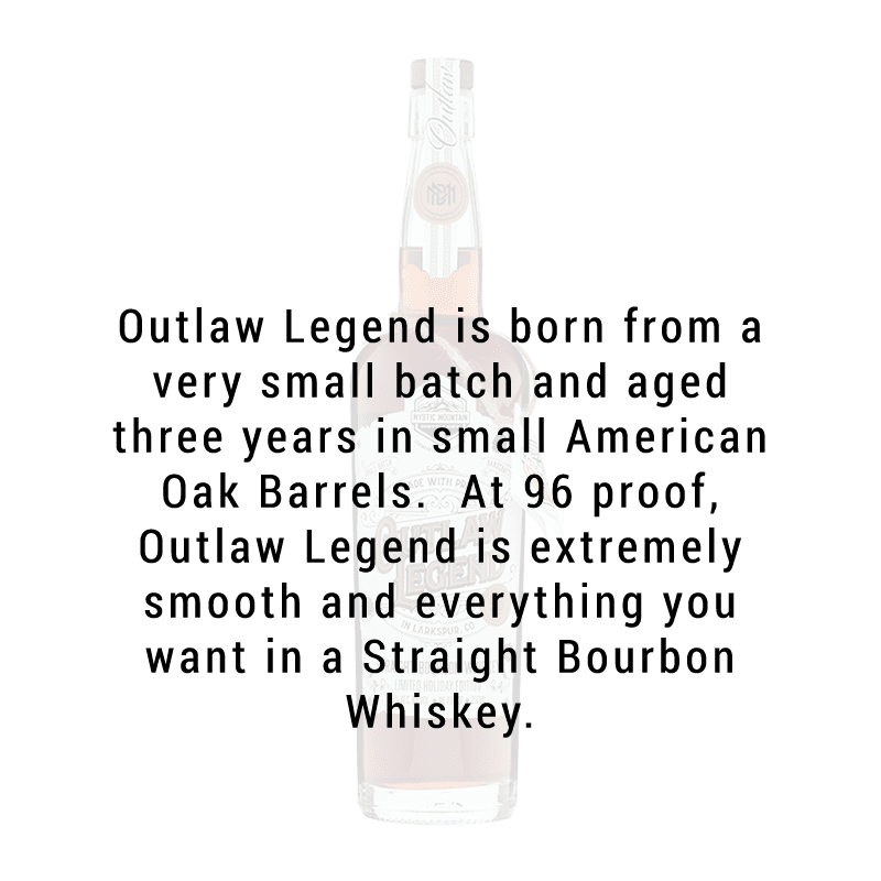 Mystic Mountain Outlaw Legend Straight Bourbon Whiskey 96 Proof 750ml
