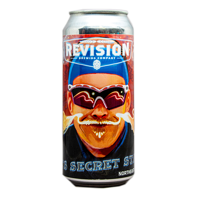 REVISION PETES SECRET STACHE HAZY IPA 16.oz