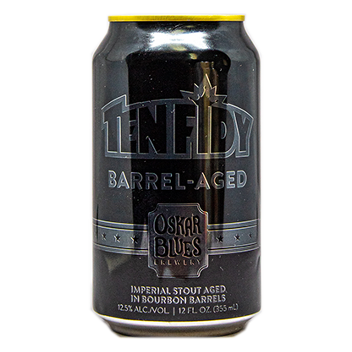 OSKAR BLUES TENFIDY BARREL AGES IMPERIAL STOUT  12.oz