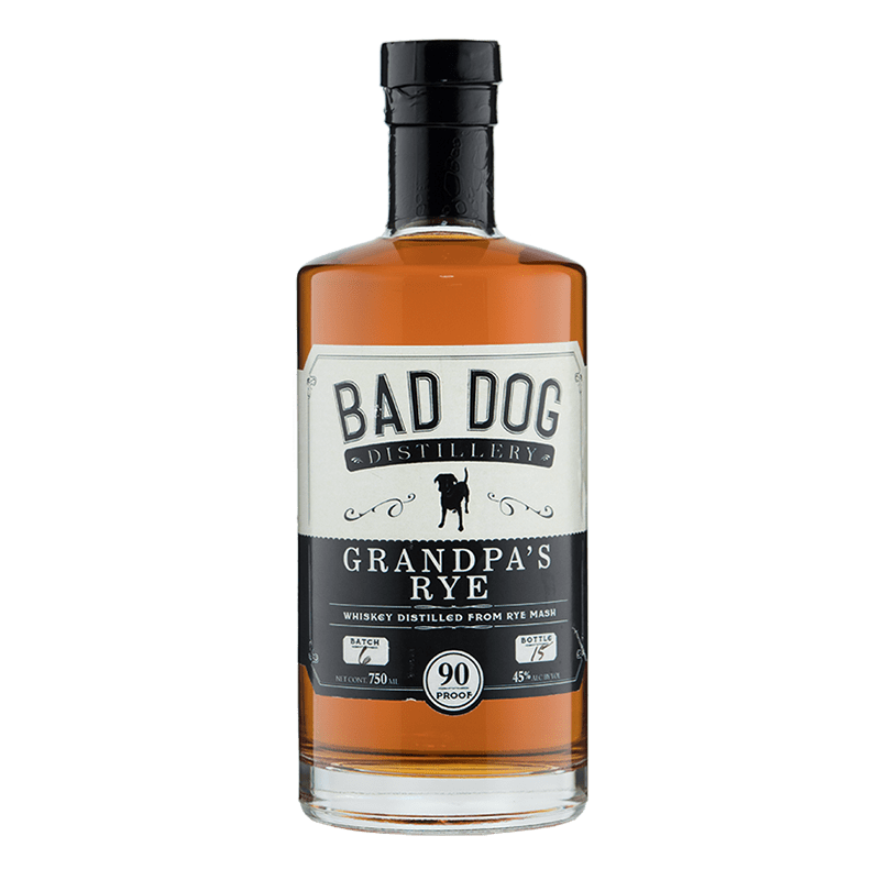 Bad Dog Distillery Grandpa's Rye 750mL buy online great american craft spirits