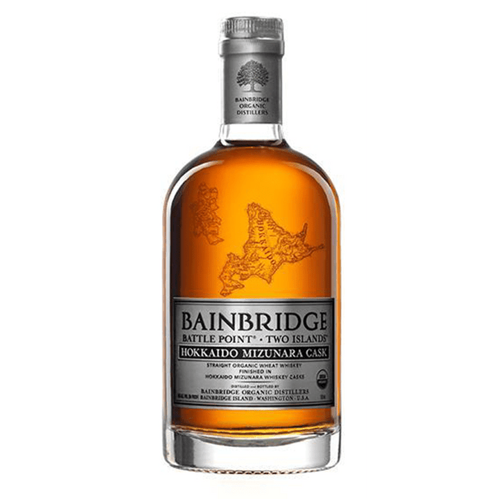 Bainbridge Two Islands HOKKAIDO MIZUNARA Cask Organic Whiskey - 750 ML