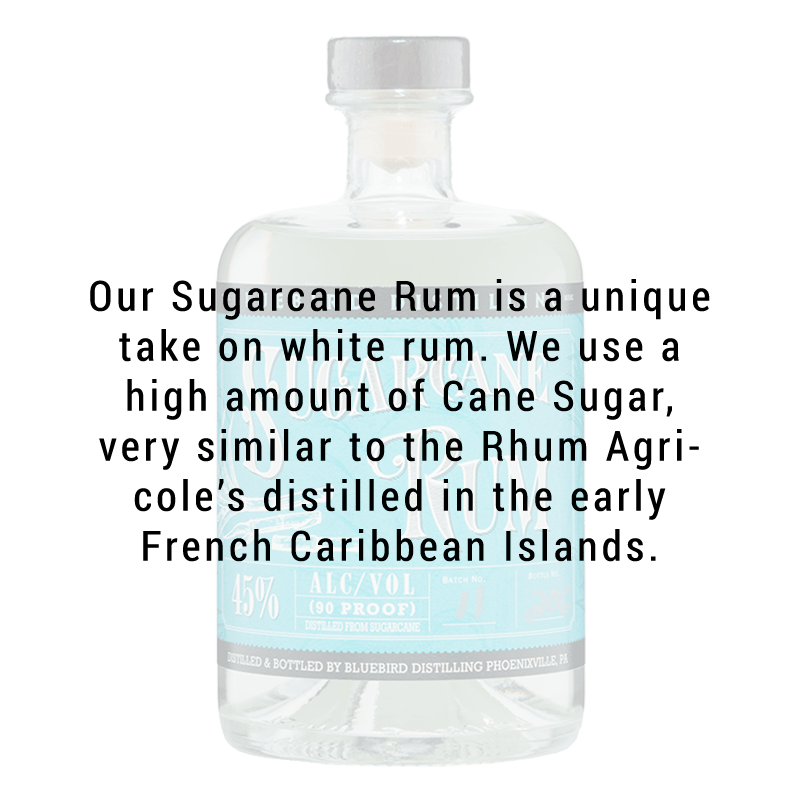 Bluebird Distilling Sugarcane Rum 750ML