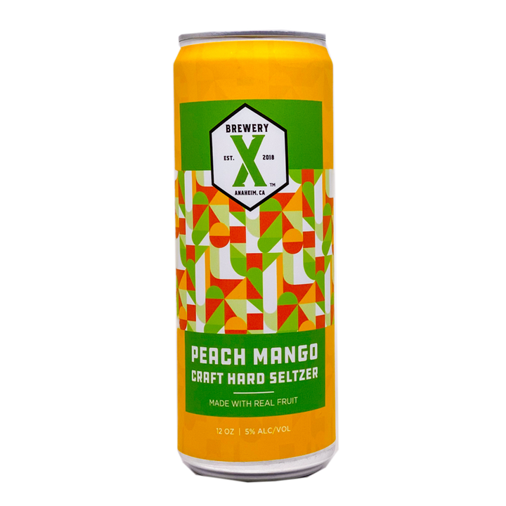 Brewery X  Peach Mango Craft Hard Seltzer 12.oz