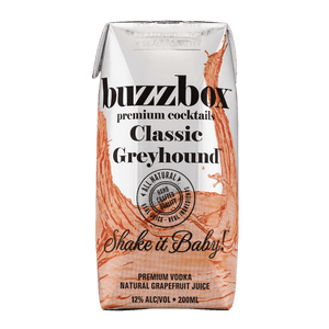 Buzzbox Premium cocktails Classic Greyhound cocktail 24 Pack