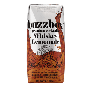 Buzzbox Premium cocktails Whiskey Lemonade cocktail 24 Pack