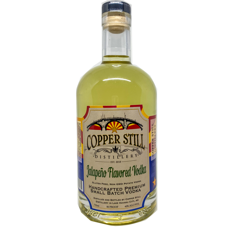 Copper Still Distillery Jalapeno Flavored Vodka 750mL