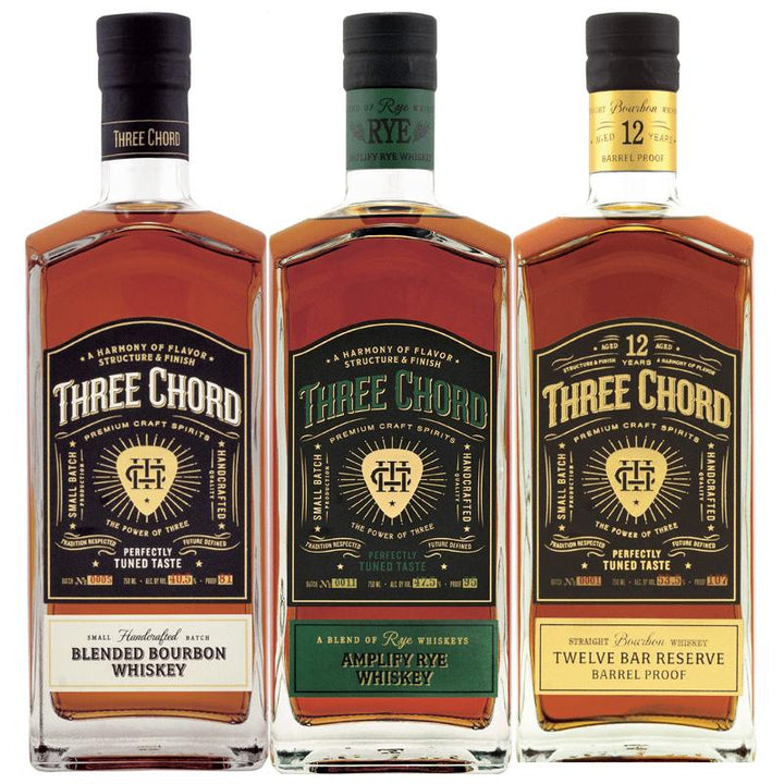 Three Chord Whiskey Three Pack 750mL