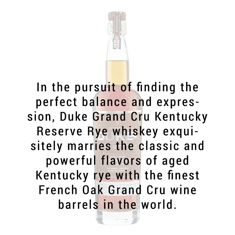 Duke Double Barrel Founders Reserve Rye Whiskey 750ml
