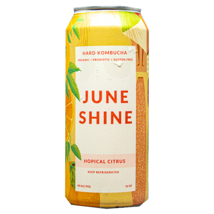 JUNE SHINE HOPICAL CITRUS HARD KOMBUCHA 16OZ