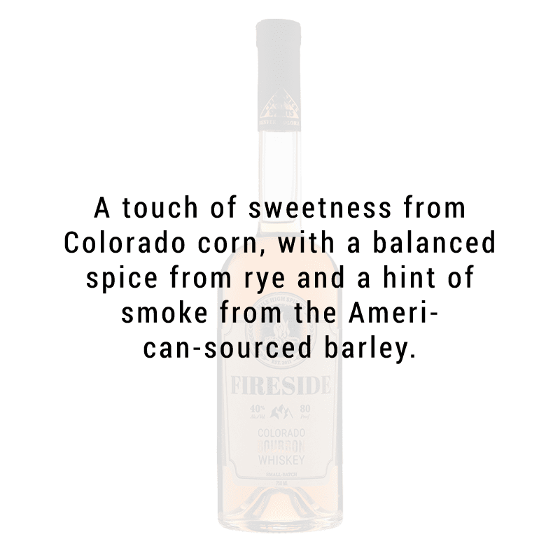 Mile High Spirits Fireside Bourbon Whiskey 750mL