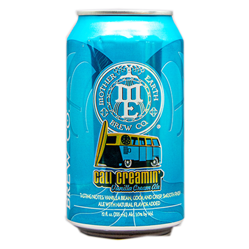 MOTHER EARTH CALI CREAMIN' VANILLA CREAM ALE 12.oz