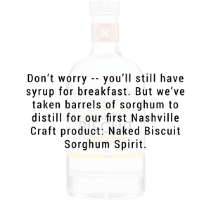 Nashville Craft Naked Biscuit Sorghum Spirit Rum 750ml