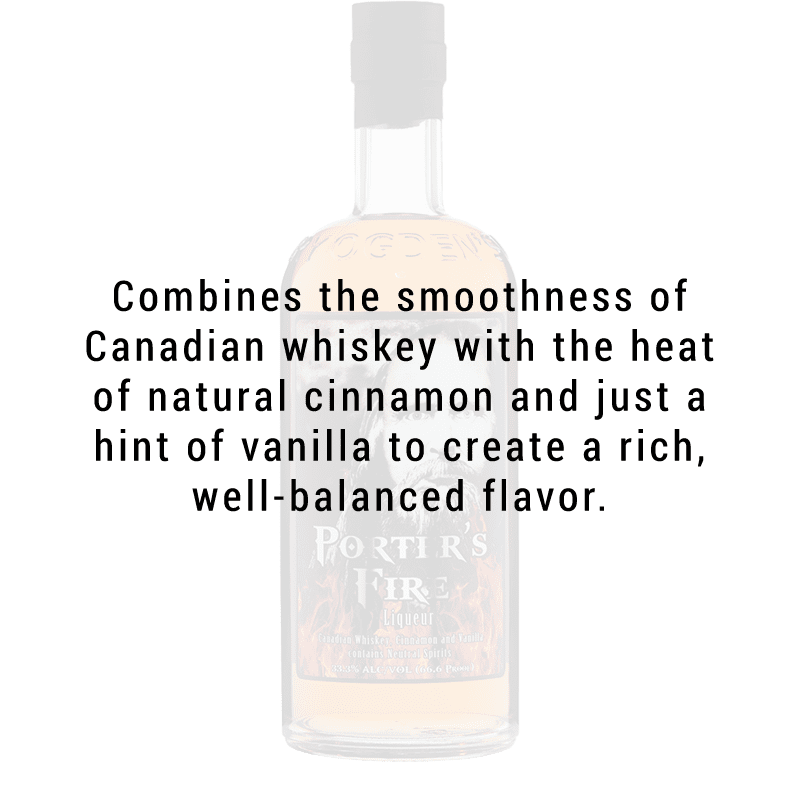 Ogden's Own Distillery Porter's Fire Liqueur 750ml