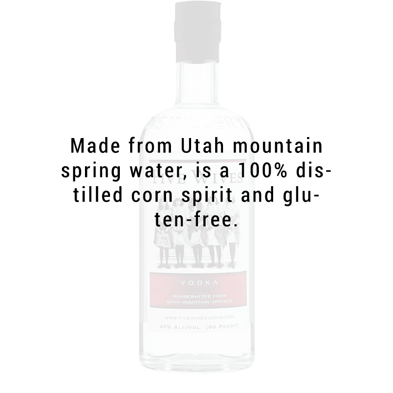 Ogden's Own Distillery Five Wives Vodka 750ml