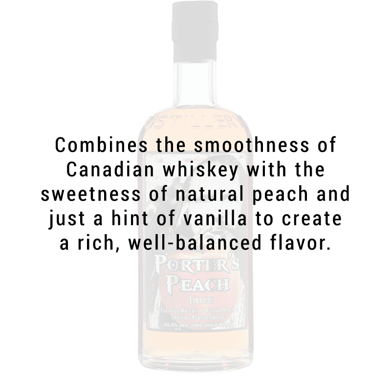 Ogden's Own Distillery Porter's Peach Liqueur 750ml