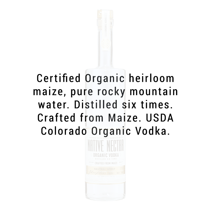 Old Town Distilling Co. Native Nectar Organic Vodka 750mL