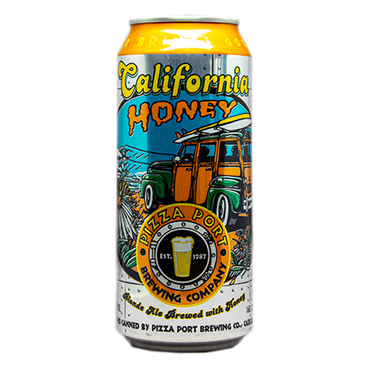 PIZZA PORT CALIFORNIA HONEY BLONDE ALE 16.oz
