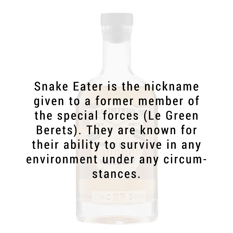 Leatherwood Distillery Snake Eater Bourbon Whiskey 750ml